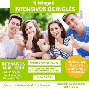 Intensivo de ingles en Granada Abril mayo junio