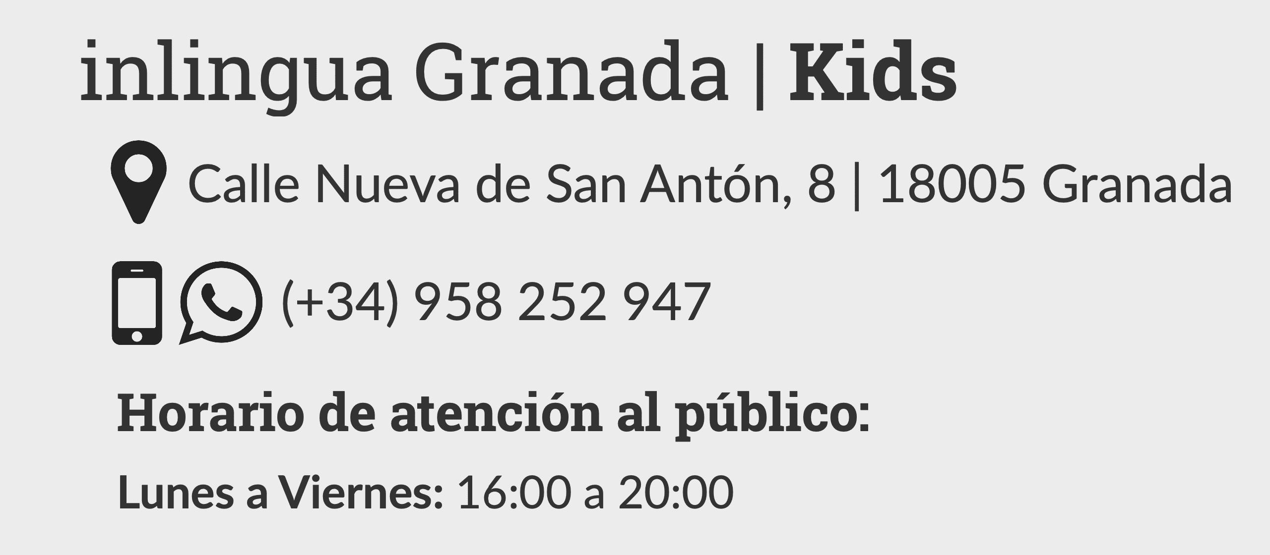 contacto inlingua Kids
